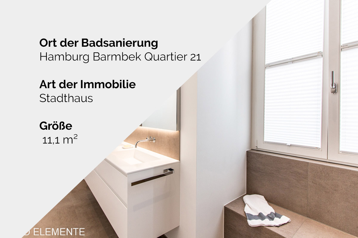 Komplette Badsanierung - Hamburg Barmbek Quartier 21