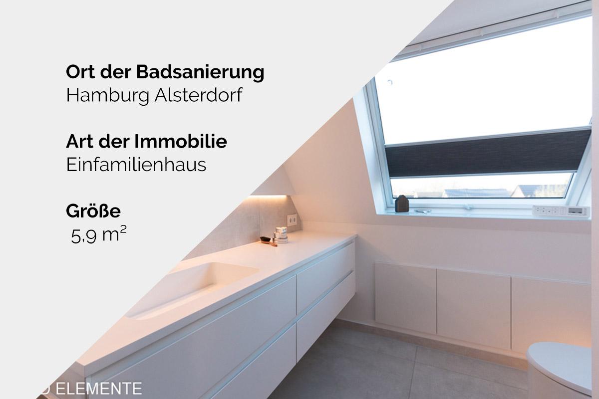 Komplette Badsanierung - Hamburg Alsterdorf
