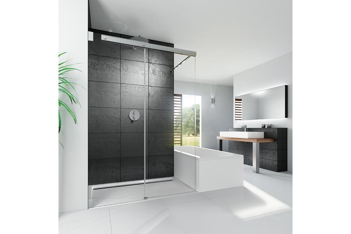 BAD ELEMENTE. Badsanierung mit Duschabtrennungen teilgerahmt, walk in oder rahmenlos in allen Maßen und Ausführungen